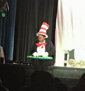 "me as ""the cat in the hat"""